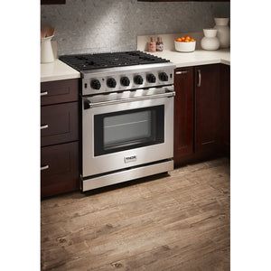 "Thor Kitchen 30"" 4.55 cu. ft. Professional Natural Gas Range in Stainless Steel, LRG3001U test"