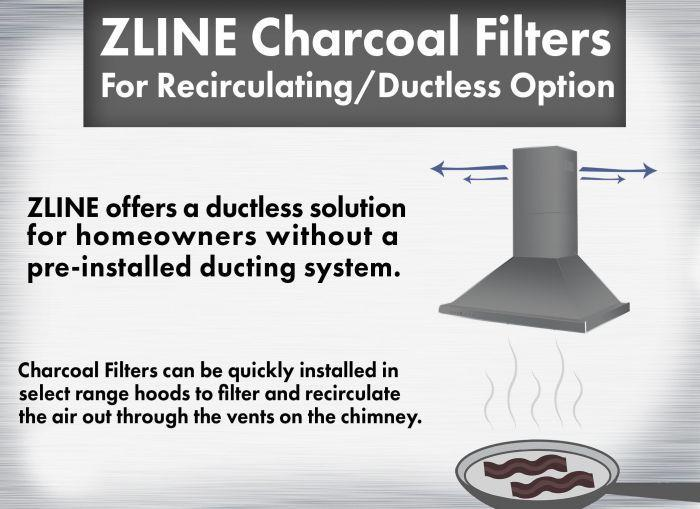 ZLINE 1 Set Charcoal Filters (CF1) for Range Hoods w/ Recirculating Option