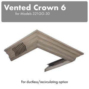 ZLINE Vented Crown Molding for Wall Mount Range Hood, CM6V-300G