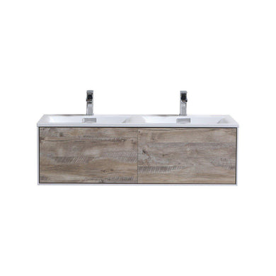 "KubeBath Divario 48"" Wall Mount Modern Bathroom Vanity - Nature Wood, D48NW"
