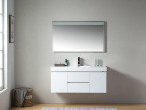 "Vanity Art Wall-Hung Single-Sink Bathroom Vanity With Resin Top, 48"" test"