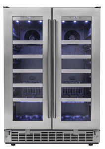"Danby Silhouette Napa 24"" 42 Bottle Capacity Dual-Zone Wine Cooler, DWC047D1BSSPR test"