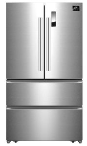 "Forno 33"" 19 cu.ft. French Door Refrigerator in Stainless Steel, FFFFD1907-33SB"