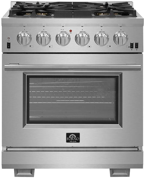 Forno 30″ Pro Series Capriasca Gas Burner / Electric Oven in Stainless Steel 5 Italian Burners, FFSGS6187-30