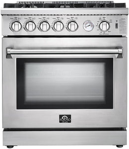 FORNO 30″ Lseo Gas Burner / Gas Oven in Stainless Steel 5 Italian Burners, FFSGS6275-30