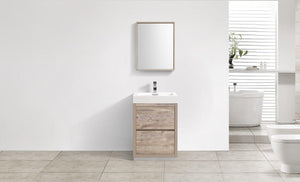 "KubeBath Bliss 30"" Free Standing Modern Bathroom Vanity - Nature Wood, FMB30-NW test"
