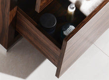 "KubeBath Bliss 24"" Free Standing Modern Bathroom Vanity - Walnut, FMB24-WNT"