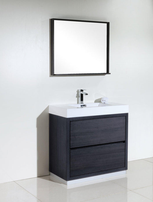 "KubeBath Bliss 36"" Free Standing Modern Bathroom Vanity - Gray Oak, FMB36-GO"