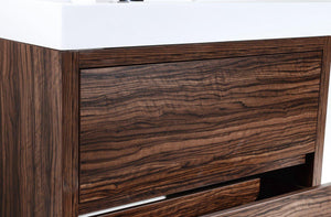 "KubeBath Bliss 40"" Free Standing Modern Bathroom Vanity - Walnut, FMB40-WNT test"