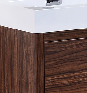 "KubeBath Bliss 60"" Double Sink Free Standing Modern Bathroom Vanity - Walnut, FMB60D-WNT test"