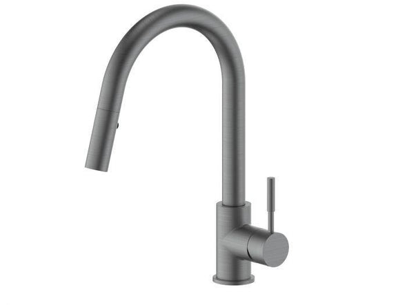 ZLINE Arthur Kitchen Faucet in Black Stainless, ATH-KF-GM