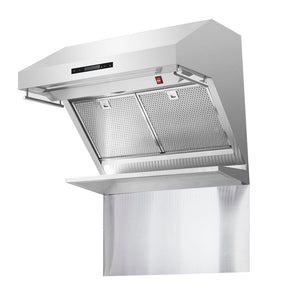 "Forno 30"" 600 CFM Wall Mount Range Hood and Back Splash, FRHWM5029-30HB"