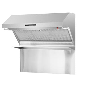 "Forno 48"" 1,200 CFM Wall Mount Range Hood and Back Splash, FRHWM5029-48HB"