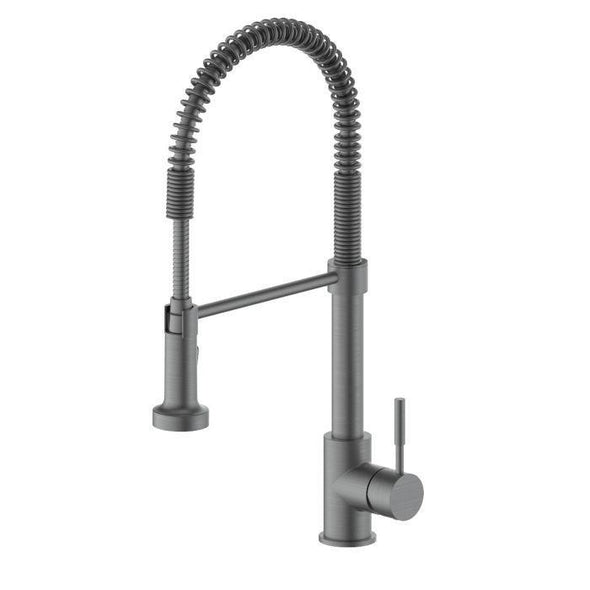 ZLINE Apollo Kitchen Faucet in Black Stainless, APL-KF-GM