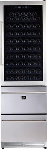 "Forno 24"" 108 Bottle Triple Zone Wine Cooler, FWCDR662824-S"