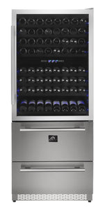 "Forno 30"" 144 Bottle & 200 Can Triple Zone Wine Cooler, FWCDR6661-30"