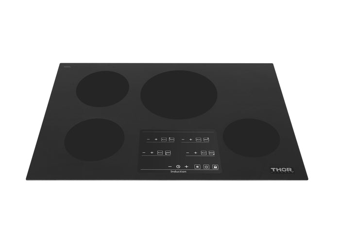 Thor Kitchen 30 in. Glass Induction Cooktop in Black with 4 Elements, HIC3001