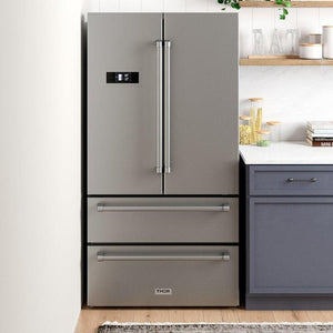 "Thor Kitchen 36"" 20.85 cu. ft. French Door Refrigerator Stainless Steel, HRF3601F"