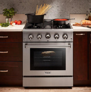 Thor Kitchen 30 in. 4.2 cu. ft. Professional Propane Gas Range in Stainless Steel, HRG3080ULP