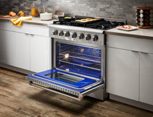 "Thor Kitchen 36"" 5.2 cu. ft. Professional Natural Gas Range in Stainless Steel, HRG3618U"