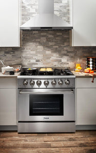 "Thor Kitchen 36"" 5.2 cu. ft. Professional Natural Gas Range in Stainless Steel, HRG3618U test"