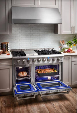 "Thor Kitchen 48"" 6.7 cu. ft. Professional Natural Gas Range in Stainless Steel, HRG4808U"