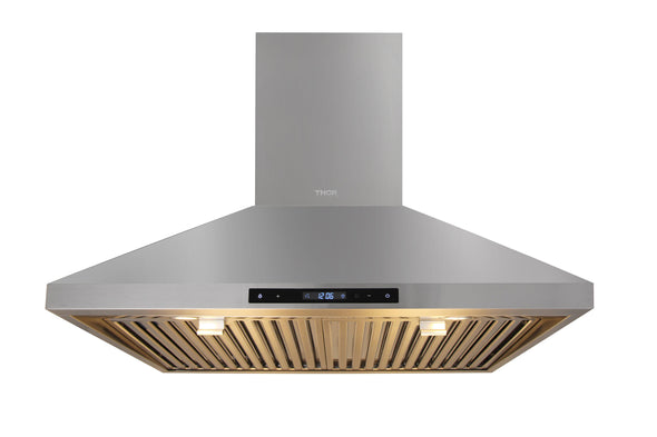 Thor Kitchen 30 in. Wall Mount LED Light Range Hood in Stainless Steel, HRH3007