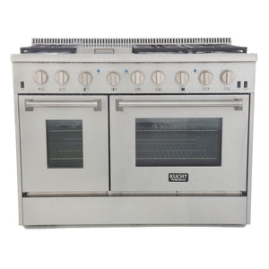 "Kucht Professional 48"" 6.7 cu ft. Natural Gas Range with Silver Knobs, KRG4804U-S"