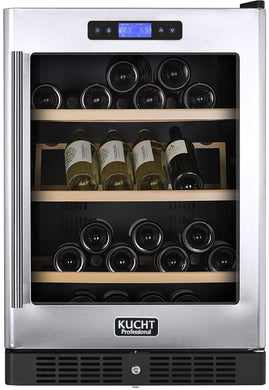 "Kucht Professional 24"" Dual Zone Wine Cooler (54 Bottle Capacity), K148A12"
