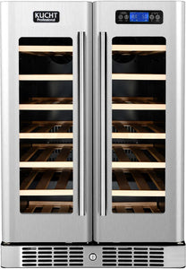 "Kucht 24"" 40 Bottle Dual Zone Wine Cooler, K148AH22"