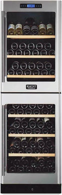 "Kucht Professional 24"" Dual Zone Wine Cooler (155 Bottle Capacity), K430AV22"