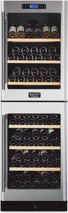 "Kucht 24"" 155 Bottle Dual Zone Wine Cooler, K430AV22"