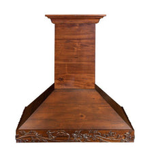 ZLINE 30 in. Carved Wooden Wall Mount Range Hood in Walnut, KBRRC-30