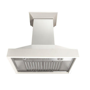 ZLINE 42 in. Wooden Wall Mount Range Hood in White, KBTT-42 test