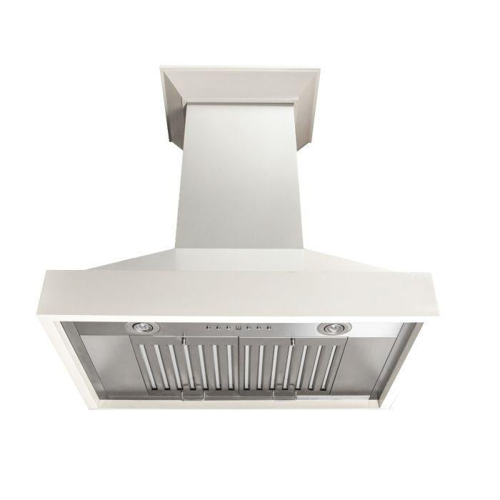 ZLINE 42 in. Wooden Wall Mount Range Hood in White, KBTT-42
