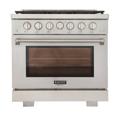 "Kucht Professional 36"" 5.2 cu ft. Natural Gas Range, KFX360"