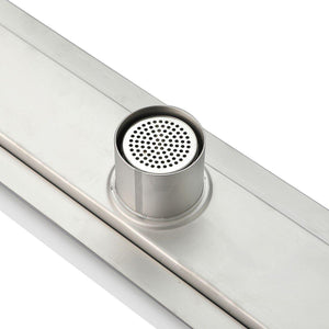"KubeBath Kube 27.5"" Linear Drain with Tile Grate, KLD28TILE test"