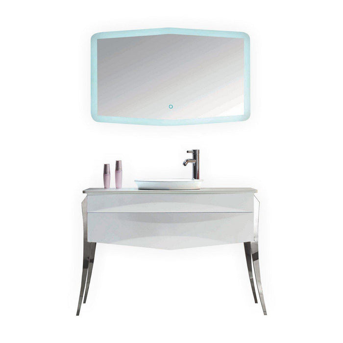 "KubeBath Riso 47"" Single Modern Bathroom Vanity by Kube Bath, KR844"