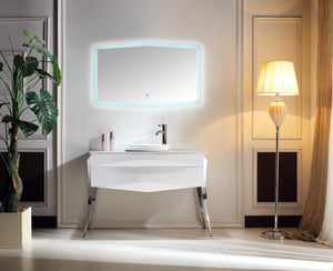 "KubeBath Riso 47"" Single Modern Bathroom Vanity by Kube Bath, KR844 test"
