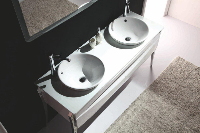 "KubeBath Riso 64"" Double Sink Modern Bathroom Vanity by Kube Bath, KR864D"