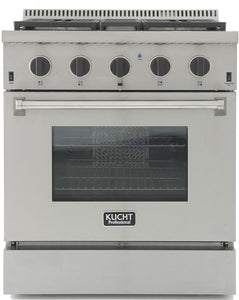 "Kucht Professional 30"" 4.2 cu ft. Natural Gas Range with Tuxedo Black Knobs, KRG3080U-K"