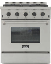 "Kucht Professional 30"" 4.2 cu ft. Propane Gas Range with Tuxedo Black Knobs, KRG3080U/LP-K"