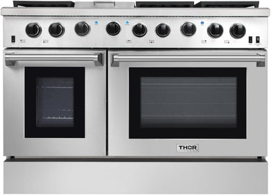 Thor Kitchen 48 in. 6.8 cu. ft. Double Oven Gas Range in Stainless Steel, LRG4801U
