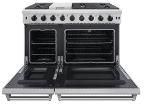 Thor Kitchen 48 in. 6.8 cu. ft. Double Oven Gas Range in Stainless Steel, LRG4807U test
