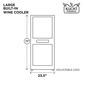 "Kucht Professional 24"" Triple Zone Wine Cooler (121 Bottle Capacity), K430AVH33 test"