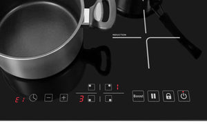 Lycan 24 in. Glass Induction Cooktop in Black with 4 Elements, NEC2401i test