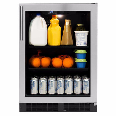 "Northland 24"" Northland 190-Can Capacity (5.3-cu ft) Stainless Steel Beverage Center, NL24BCG0RS"