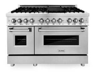 "ZLINE 4 Piece Package - 48"" Dual Fuel Range, Range Hood, Microwave Drawer & Dishwasher, AP-RA48-3 test"