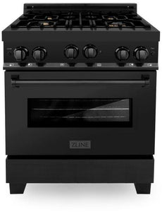 "ZLINE 30"" Professional Gas Burner/Gas Oven in Black Stainless Steel with Brass Burners, RGB-BR-30"