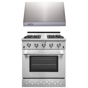 "NXR 30"" Natural Gas Range and Under Cabinet Range Hood Package, SC3055RHBD"